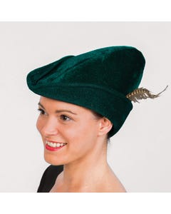 Sombrero verde oscuro de Robin Hood