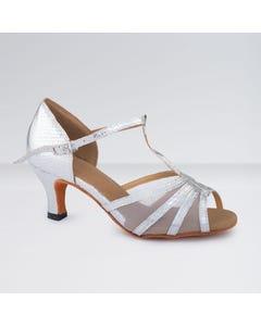 1st Position - Zapatos para Bailes de Salón de Poliuretano con Tira de Redecilla en T y Hebilla