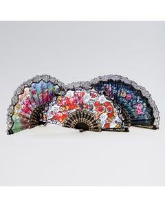 Abanico con Estampado Floral (diseños variados)
