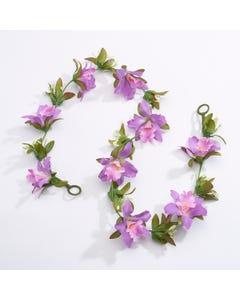 Guirnalda de flores artificiales - Morado (1 m)