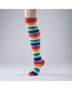 Calcetines multicolor a rayas - Talla única (adulto)