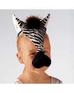 Máscara de cebra con sonido
