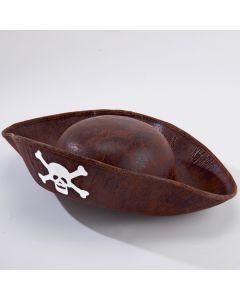 Sombrero marrón de pirata para niños