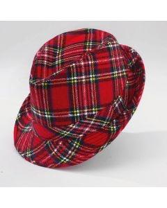Fedora de cuadros escoceses