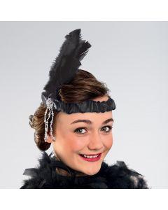 Cinta de charlestón con plumas