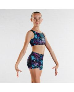 "Bloch Top Corto Infantil con Estampado ""Jigsaw"""