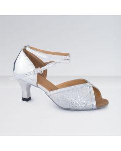1st Position - Zapatos para Bailes de Salón de Poliuretano y Brillantina con Hebilla
