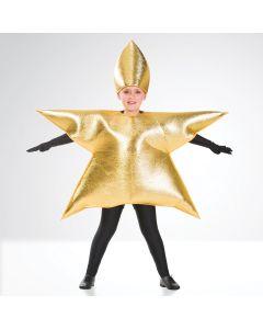 Disfraz de estrella dorada (talla única de niño)