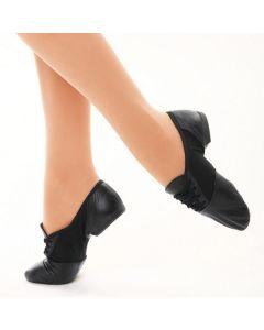 Capezio - Zapatos de jazz de ante con suela dividida