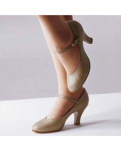 Capezio - Zapatos profesionales de teatro (marrón)