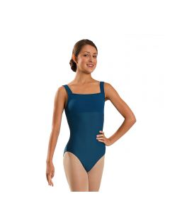 Wear Moi Titania Tank Leotard with Ribbed Microfiber Bodice and Straps