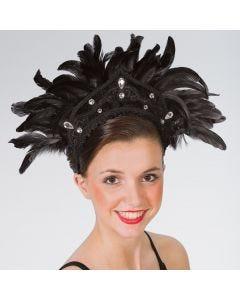 Tocado de carnaval con plumas