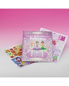 "Libro ""Sticker Dolly Dressing Ballerinas"""