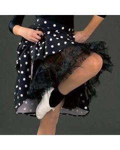 Falda/combinación negra de tul talla única de niña