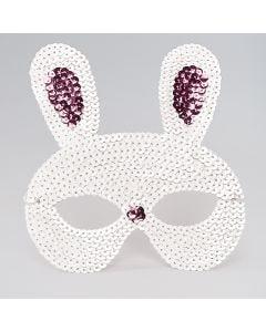Máscara de conejo de lentejuelas