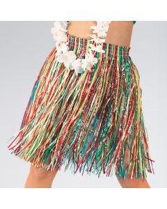 Falda hawaiana de paja (talla única de niño)