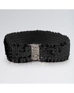 Cinturón elástico de lentejuelas