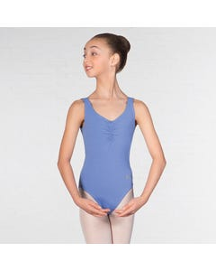 IDTA - Maillot zafiro sin mangas con espalda escotada