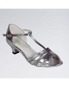 Elena Zapatos de Bailes de Salón Sintéticos con Tira en Forma de T y Hebilla