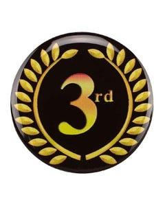 """Placa para trofeos """"3ª posición"""" con corona de laurel"""