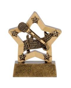 """Trofeo pequeño de estrella """"música"""" (8 cm)"""