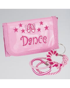 "Cartera rosa con llavero ""Dance"""