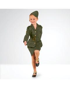 Traje de soldado femenina de la Segunda Guerra Mundial (talla niño)
