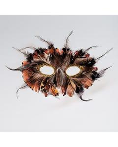 Antifaz de plumas (marrón)