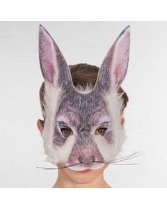 Máscara de Conejo de Impresión Digital con Pelo